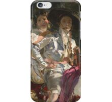 Joaquin Sorolla Y Bastida - Retrats D Elena I Maria Amb Vestits Valencians. Lovers portrait: sensual woman, woman and man, kiss, kissing lovers, love relations, lovely couple, family, valentine's day iPhone Case/Skin