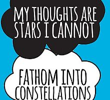 Thoughts Are Stars Cloud Design by Alyssa  Clark