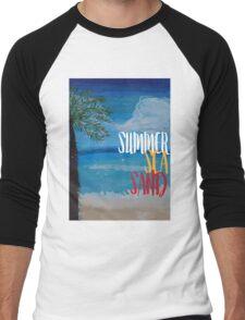 Summer, sea, sand Men's Baseball ¾ T-Shirt