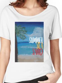 Summer, sea, sand Women's Relaxed Fit T-Shirt
