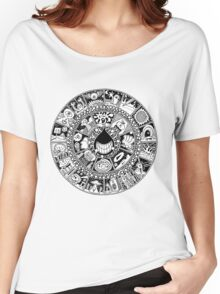 The Drop Black and White Women's Relaxed Fit T-Shirt