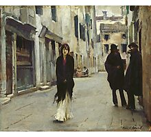 John Singer Sargent - John Singer Sargent. Street landscape: city view, streets, building, houses, prospects, cityscape, architecture, roads, travel landmarks, panorama garden, buildings Photographic Print