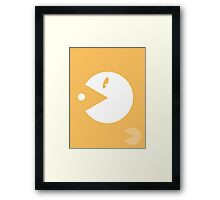Retro Hero Series #4: Pac-Man Framed Print