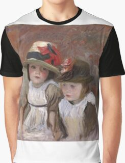 John Singer Sargent - Village Children. Child portrait: cute baby, kid, children, pretty angel, child, kids, lovely family, boys and girls, boy and girl, mom mum mammy mam, childhood Graphic T-Shirt
