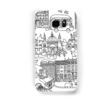 Queen's London Day Out - black & white Samsung Galaxy Case/Skin