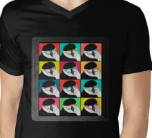 Chinstrap Penguins Pop Art Mens V-Neck T-Shirt