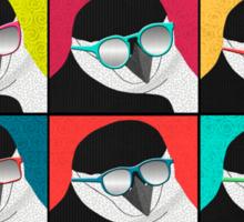 Chinstrap Penguins Pop Art Sticker