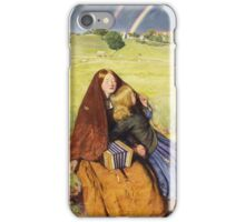 John Everett Millais - The Blind Girl 1854. Girl portrait: cute girl, girly, female, pretty angel, child, beautiful dress, face with hairs, smile, little, kids, baby iPhone Case/Skin