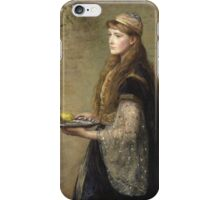 John Everett Millais - The Captive. Woman portrait  iPhone Case/Skin