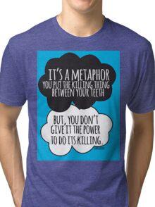 It's A Metaphor Cloud Design Tri-blend T-Shirt