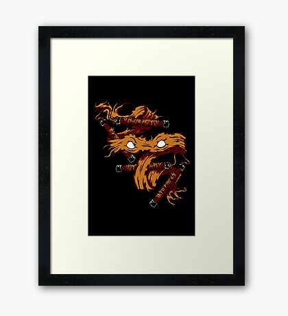 Orange Rage Framed Print