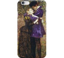 John Everett Millais - The Huguenot. Lovers portrait: sensual woman, woman and man, kiss, kissing lovers, love relations, lovely couple, family, valentine's day, sexy, romance, female and male iPhone Case/Skin