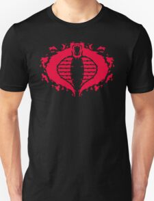 Cobrorschach  (red) Unisex T-Shirt