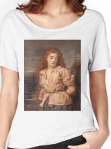 John Everett Millais - The Martyr Of The Solway. Woman portrait: sensual woman, girly art, female style, pretty women, femine, beautiful dress, cute, creativity, love, sexy lady, erotic pose Women's Relaxed Fit T-Shirt