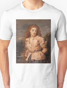 John Everett Millais - The Martyr Of The Solway. Woman portrait: sensual woman, girly art, female style, pretty women, femine, beautiful dress, cute, creativity, love, sexy lady, erotic pose Unisex T-Shirt
