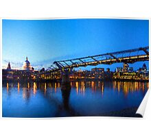 Impressions of London - Millennium Bridge and St. Paul's Cathedral Poster
