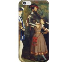 John Everett Millais - The Ransom. Family portrait: father and son, mother and daughter, female and male, dad daddy, child baby, beautiful dress, lovely family, mothers day, memory, mom mam, friends iPhone Case/Skin