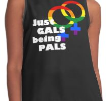 Just Gals being Pals [WHITE TEXT] Contrast Tank