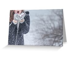 Young woman winter portrait Greeting Card