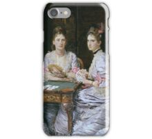 John Everett Millais - Hearts Are Trumps 1872. Woman portrait: sensual woman, girly art, female style, pretty women, femine, beautiful dress, cute, creativity, love, sexy lady, erotic pose iPhone Case/Skin