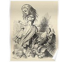 John Tenniel - Giant Alice Upsets The Jury Box, From  Alice S Adventures In Wonderland. Insects painting: cute bee, fly, bugs, lucky, pets, wild life, animal, butterfly, little small, insects, nature Poster
