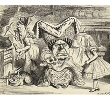 John Tenniel - The Duchess With Her Family, From  Alice S Adventures In Wonderland. Girl portrait: cute girl, girly, female, pretty angel, child, beautiful dress, smile, little, kids, baby Photographic Print