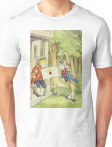 John Tenniel - The Fish-Footman Alice In Wonderland. Insects painting: cute bee, fly, bugs, lucky, pets, wild life, animal, butterfly, little small, insects, nature Unisex T-Shirt