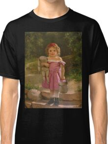 John George Brown - Going To The Spring 1865. Female child portrait: cute baby, kid, children, pretty angel, child, kids, lovely family, boys and girls, boy and girl, mom mum mammy mam, childhood Classic T-Shirt
