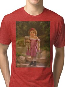 John George Brown - Going To The Spring 1865. Female child portrait: cute baby, kid, children, pretty angel, child, kids, lovely family, boys and girls, boy and girl, mom mum mammy mam, childhood Tri-blend T-Shirt