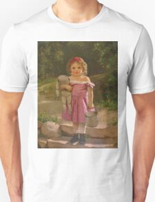 John George Brown - Going To The Spring 1865. Female child portrait: cute baby, kid, children, pretty angel, child, kids, lovely family, boys and girls, boy and girl, mom mum mammy mam, childhood Unisex T-Shirt
