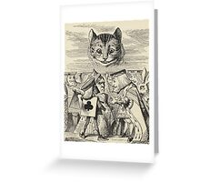 John Tenniel - The King Of Hearts Arguing With The Executioner, From  Alice S Adventures In Wonderland. Cat portrait: cute cat, kitten, kitty, cats, pets, wild life, animal, smile, little, kids, baby Greeting Card