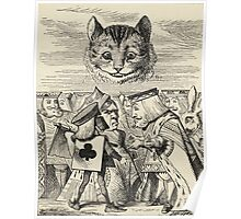 John Tenniel - The King Of Hearts Arguing With The Executioner, From  Alice S Adventures In Wonderland. Cat portrait: cute cat, kitten, kitty, cats, pets, wild life, animal, smile, little, kids, baby Poster