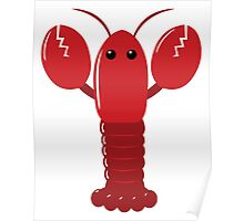 Cute Red Lobster Poster
