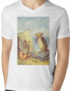 John Tenniel - The Mock Turtle And The Gryphon, Illustration From  Alice In Wonderland. Insects painting: cute bee, fly, bugs, lucky, pets, wild life, animal, butterfly, little small, insects, nature Mens V-Neck T-Shirt