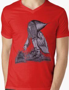 Hooded Girl Mens V-Neck T-Shirt