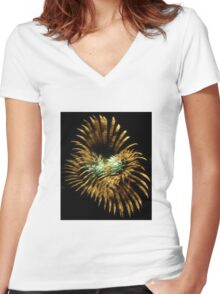 Abstract Light Women's Fitted V-Neck T-Shirt