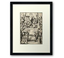 John Tenniel - The Trial Of The Knave Of Hearts, Alice Adventures In Wonderland. People portrait: party, people, family, female and male, peasants, crowd, romance, women and men, city, home society Framed Print