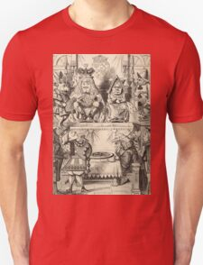John Tenniel - The Trial Of The Knave Of Hearts, Alice Adventures In Wonderland. People portrait: party, people, family, female and male, peasants, crowd, romance, women and men, city, home society Unisex T-Shirt