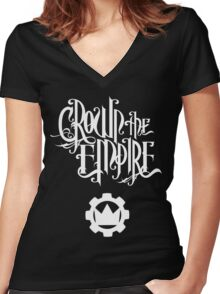 Crown the Empire - White Women's Fitted V-Neck T-Shirt
