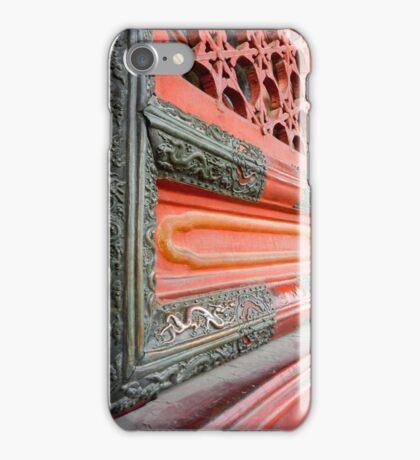 Red Dragon Door iPhone Case/Skin