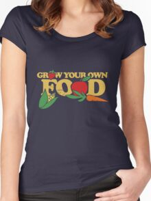 Grow your own food urban farming Women's Fitted Scoop T-Shirt