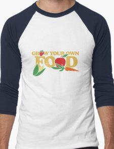Grow your own food urban farming Men's Baseball ¾ T-Shirt