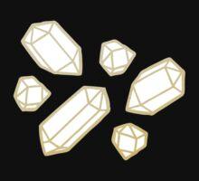 Gold and White Gemstone Pattern Kids Tee