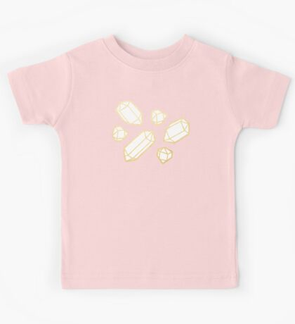 Gold and White Gemstone Pattern Kids Clothes