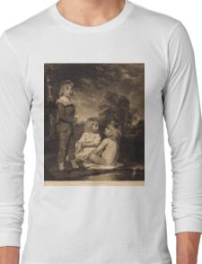 John Hoppner - Children Bathing (The Hoppner Children) 1804. Child portrait: cute baby, kid, children, pretty angel, child, kids, lovely family, boys and girls, boy and girl, mom mum mam, childhood Long Sleeve T-Shirt