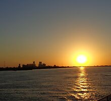 Mississippi River Sunset by Vesna *
