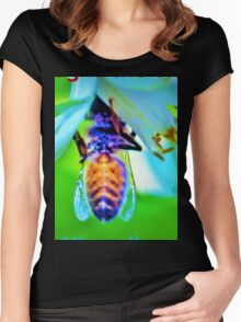 Bee-lated birthday greeting Women's Fitted Scoop T-Shirt