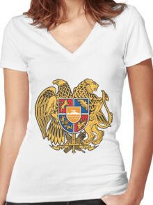Armenia Coats of Arms Women's Fitted V-Neck T-Shirt