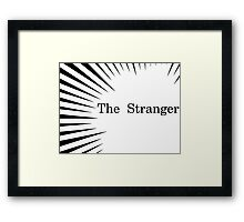 Albert Camus The Stranger Existentialism Framed Print