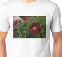 Deep Red Peony Garden Unisex T-Shirt